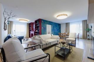 стильная 4-комнатная квартира в аренду в современном ЖК с паркингом С-Петербург